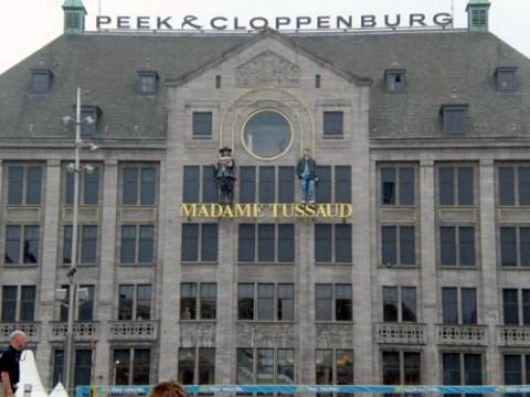 dam square amsterdam, madame Tussaud's
