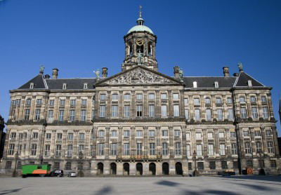 dam square amsterdam, royal palace