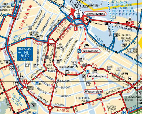 Amsterdam Public Transport Guide For Tourists – Tourist Map Of Amsterdam