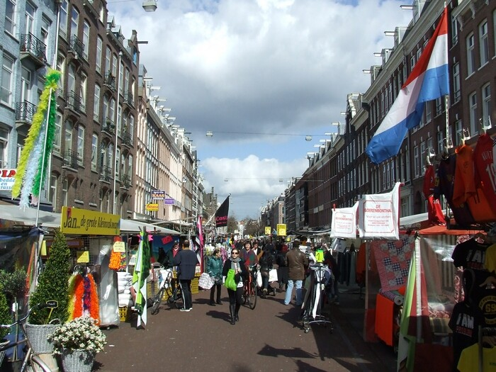 shopping in amsterdam , markets